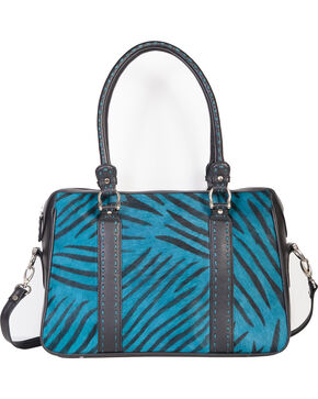 Scully Women's Hair on Calf Handbag, Turquoise, hi-res