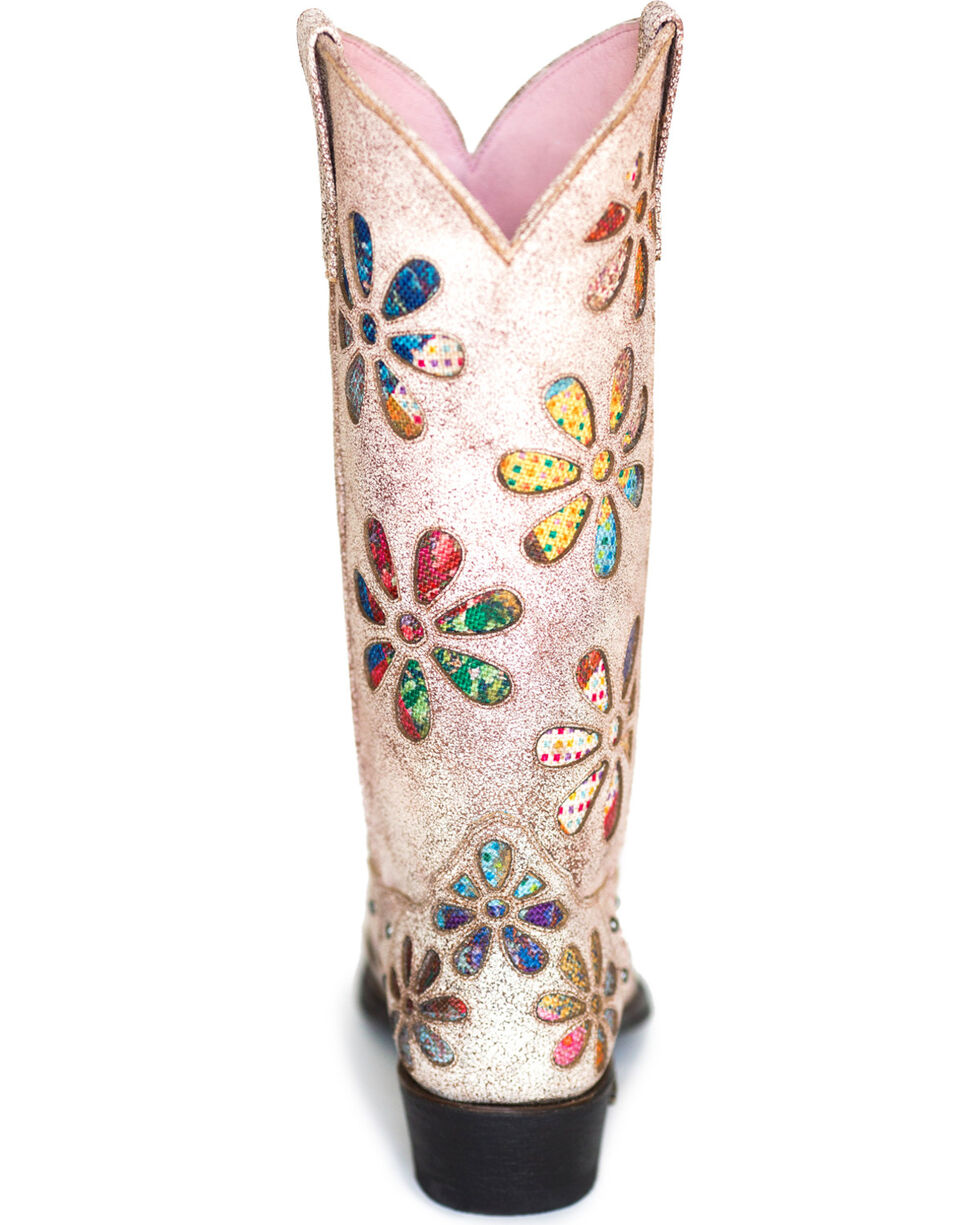 Miss Macie Women's Whoop Si Daisy Cowgirl Boots - Snip Toe , Multi, hi-res