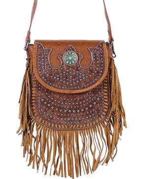 Shyanne Women's Fringed Crossbody Bag, Brown, hi-res
