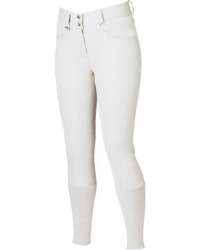 Dublin Women's Active Signature Full Seat Breeches, White, hi-res
