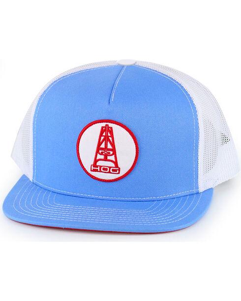 Hooey Men's HOG Trucker Cap, Light Blue, hi-res