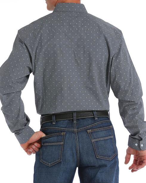 Cinch Men's Modern Fit Charcoal Print Long Sleeve Button Down Shirt, Charcoal, hi-res