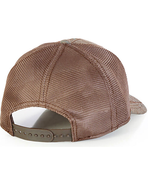 Wrangler Men's Plaid Logo Ball Cap, Brown, hi-res