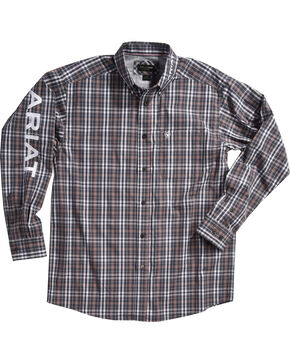 Ariat Men's Antioch Plaid Pro Series Classic Logo Shirt, Grey, hi-res