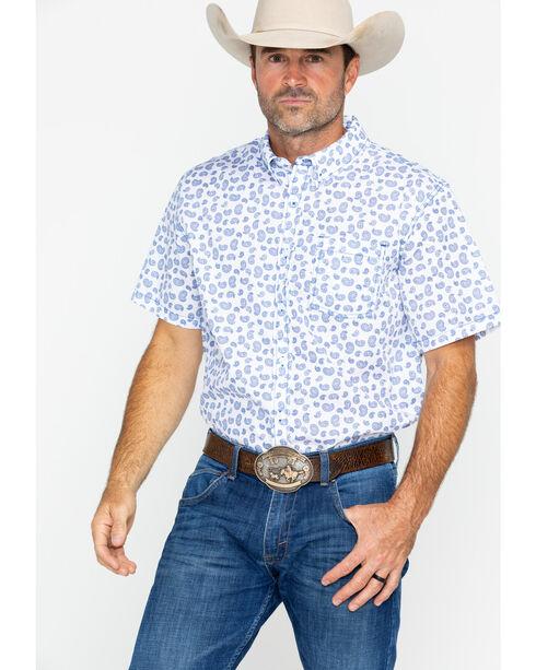Gibson Men's Paisley Print Short Sleeve Shirt, White, hi-res