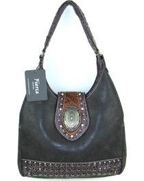 Savana Women's Fierce Concho and Croco Trim Conceal Carry Handbag, , hi-res