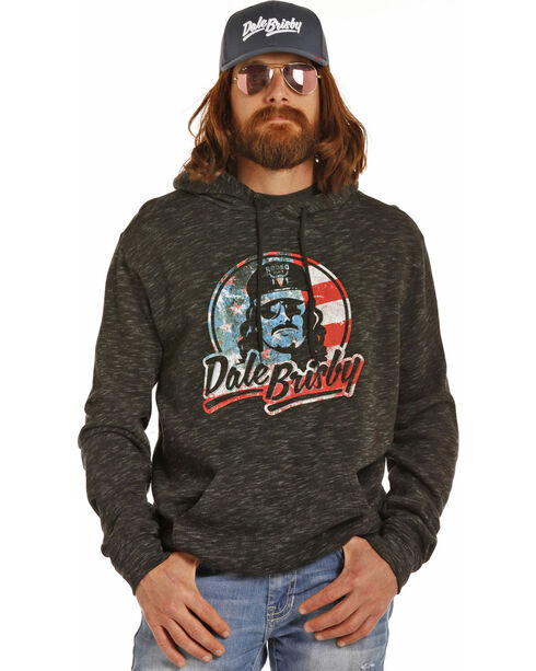 Rock & Roll Cowboy Men's Black Patriotic Dale Brisby Hoodie , Black, hi-res