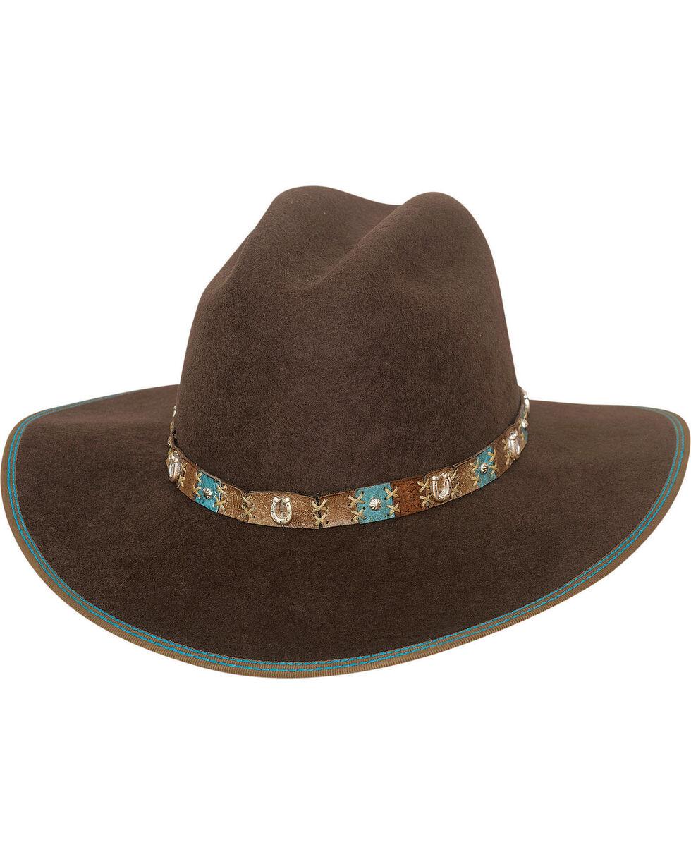 Bullhide Women's Confident Cowgirl Hat , Chocolate, hi-res