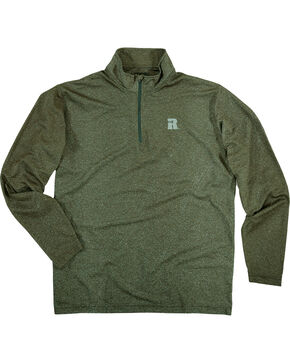 Wrangler Men's Olive Riggs Workwear 1/4 Zip Pullover - Big & Tall , Olive, hi-res