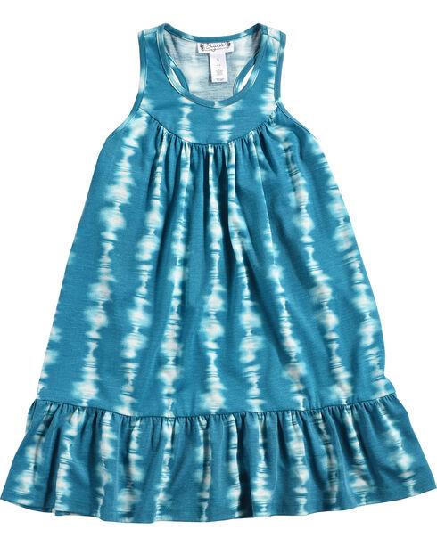 Shyanne Girls' Tie-Dye Knit Dress, Blue, hi-res