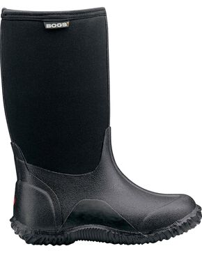 Bogs Boys' Classic High Waterproof Rain Boots, Black, hi-res