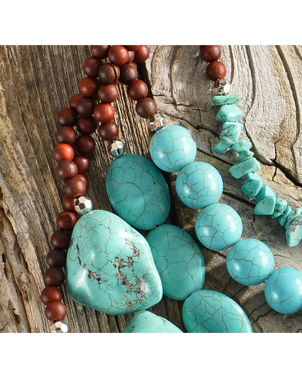 Lost & Found Women's Turquoise Stone Layered Necklace, Turquoise, hi-res