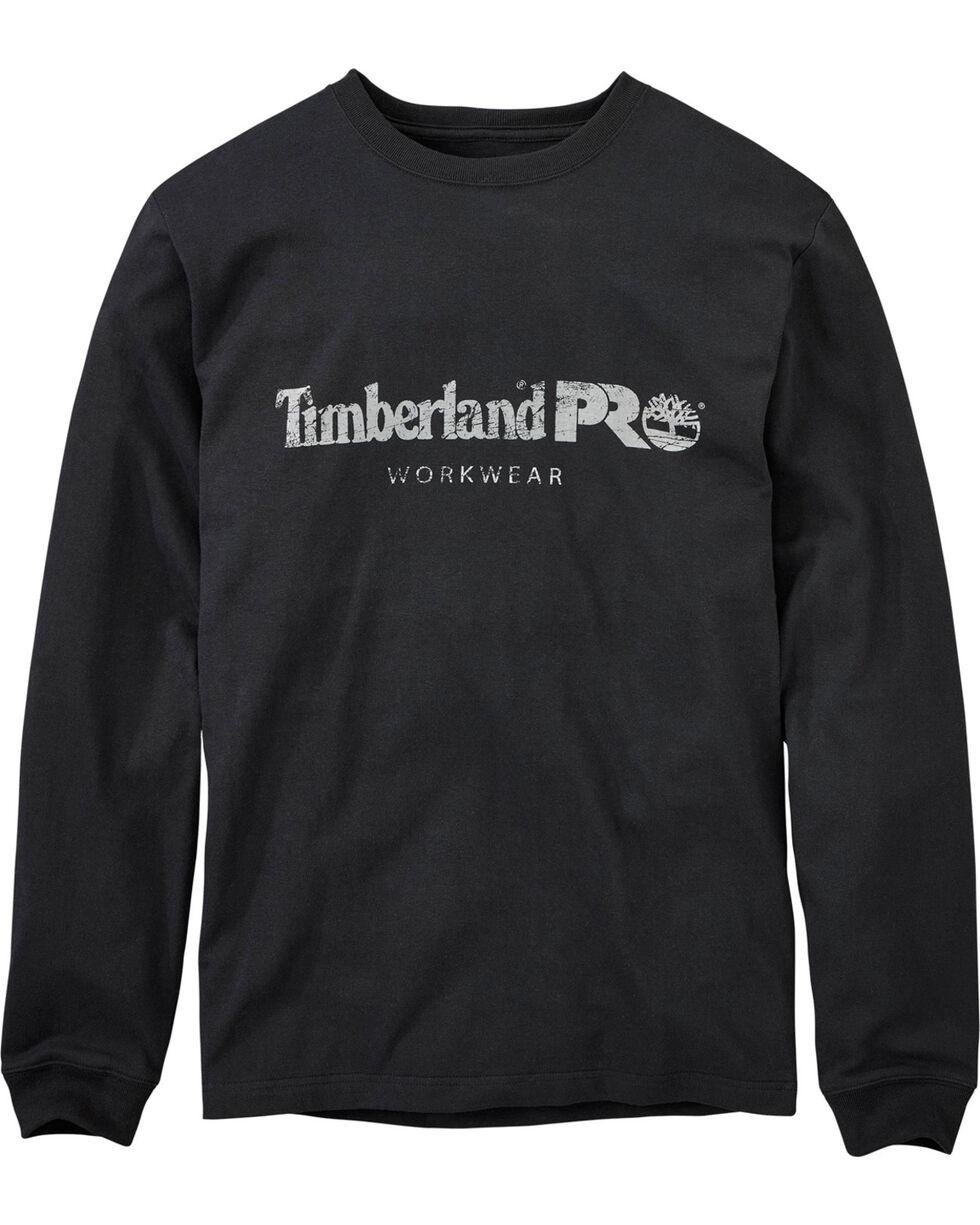 Timberland Men's Cotton Core Long Sleeve T-Shirt , Black, hi-res