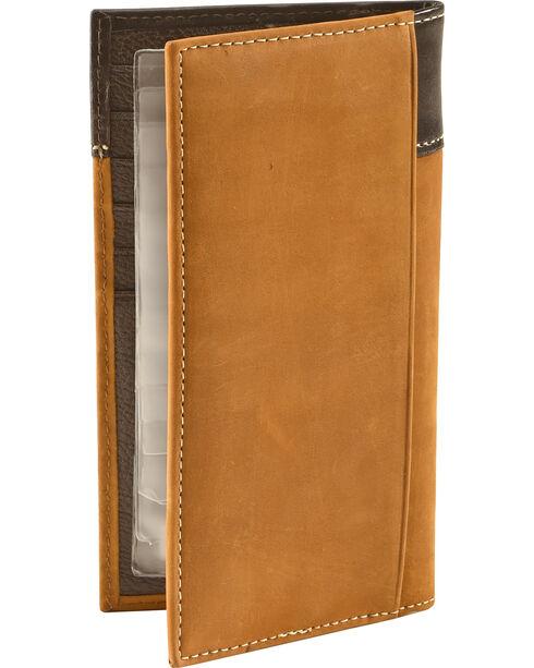 Cody James® Men's Tooled Cross Wallet, Brown, hi-res