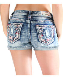Grace in LA Women's Americana Cut Off Shorts , , hi-res