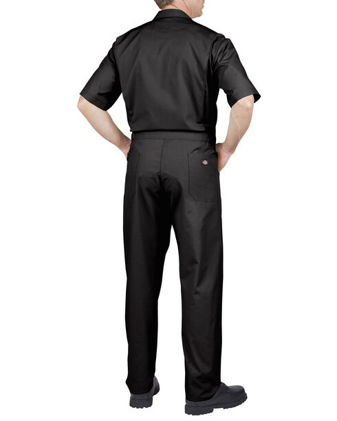 Dickies Short Sleeve Work Coveralls - Big & Tall, Black, hi-res