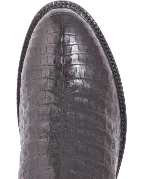 El Dorado Men's Caiman Belly Roper Boots - Round Toe, Black, hi-res