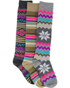 La De Da Girls' Striped and Patterned Knee High socks, No Color, hi-res