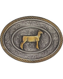 Montana Silversmiths Prize Ewe Classic Impressions Attitude Belt Buckle, , hi-res