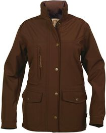 STS Ranchwear Women's Brazos Softshell Brown Barn Jacket, , hi-res