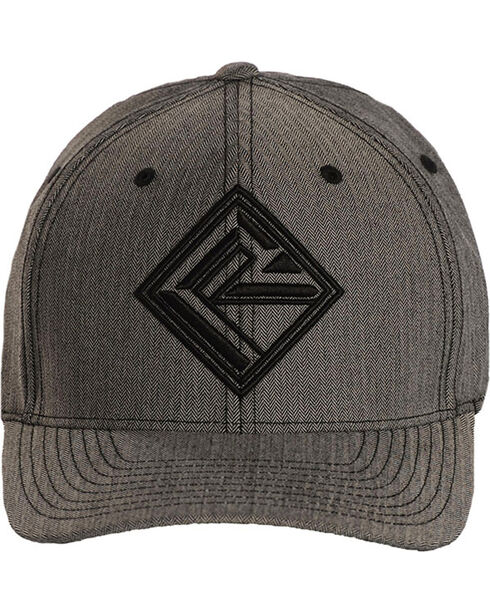 Rock & Roll Denim Men's Logo Ball Cap, Grey, hi-res