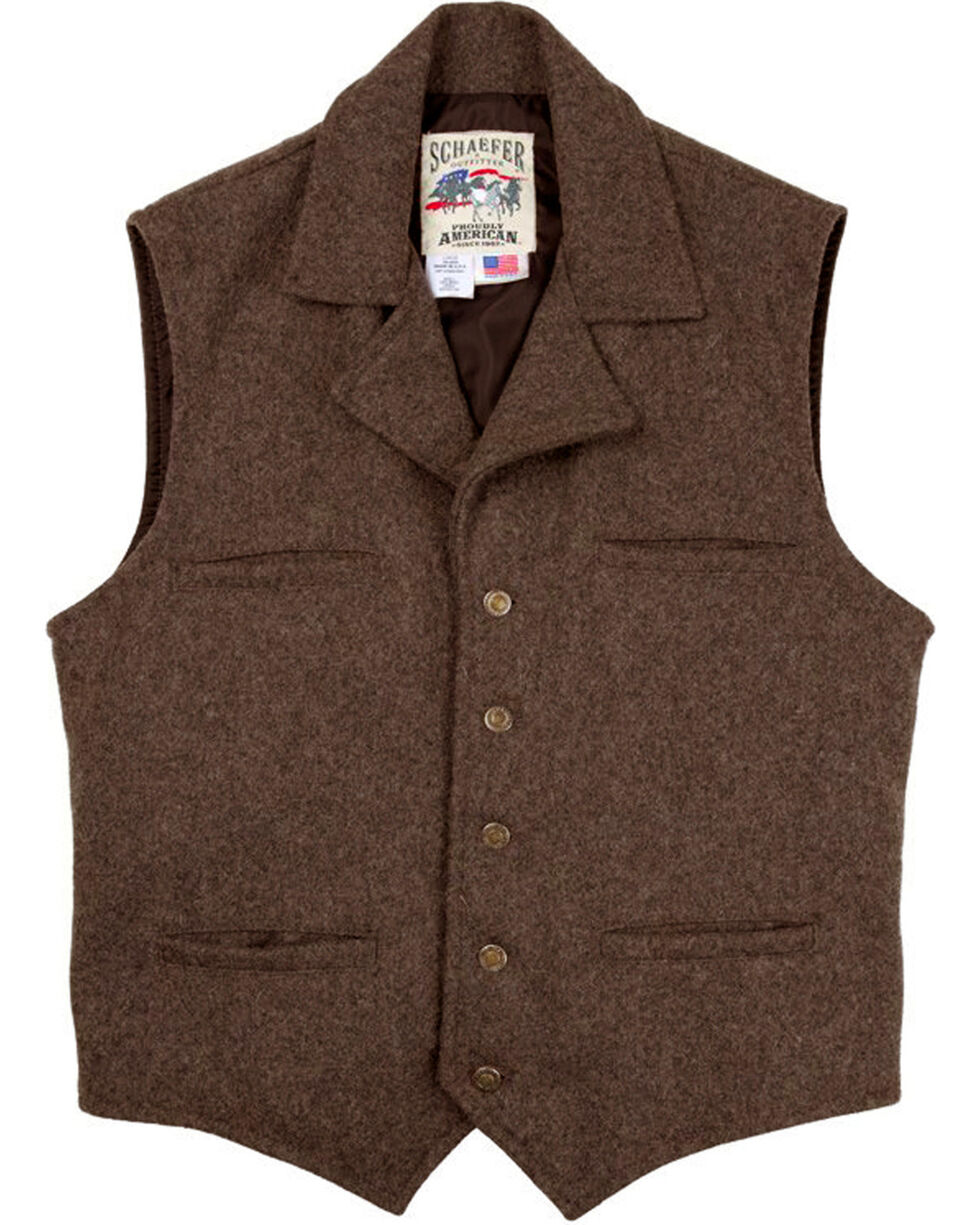 Schaefer Outfitter Men's Chocolate Cattle Baron Vest , Chocolate, hi-res