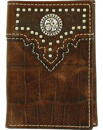 Ariat Men's Tri-Fold Concho Wallet , , hi-res