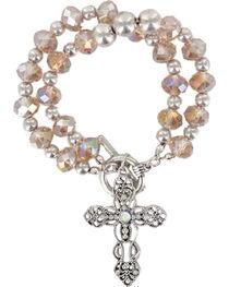 Shyanne® Women's Vintage Cross Bracelet, , hi-res