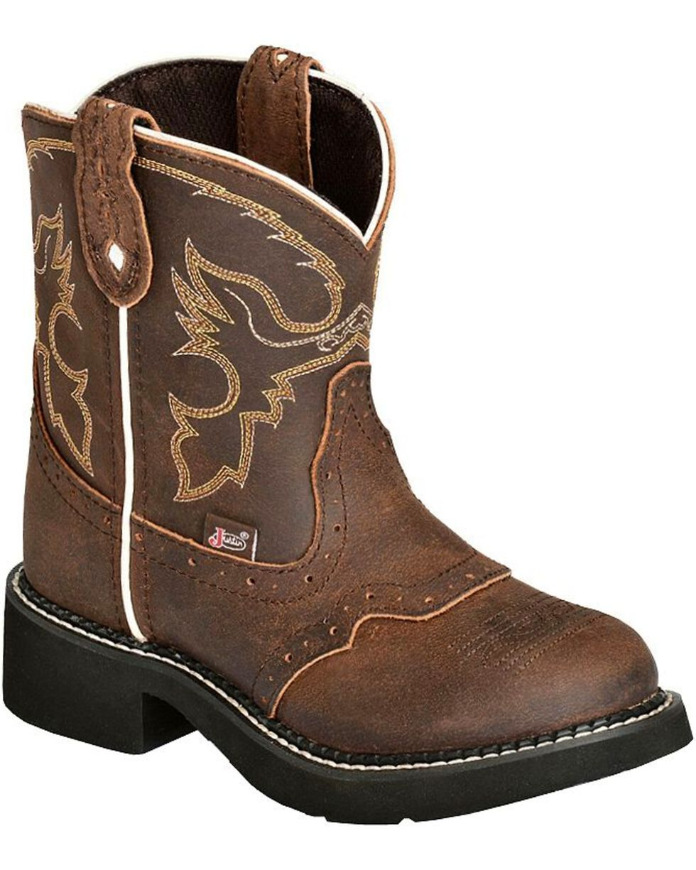 Justin Youth Gypsy Cowgirl Western Boots, Aged Bark, hi-res