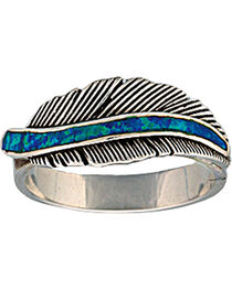 "Montana Silversmiths ""The Storyteller"" Feather Ring, , hi-res"