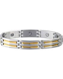 Sabona Men's Silhouette Duet Magnetic Bracelet, , hi-res