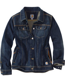 Carhartt Women's Brewster Denim Jacket, , hi-res