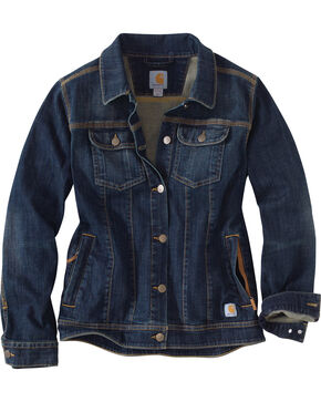 Carhartt Women's Brewster Denim Jacket, Denim, hi-res
