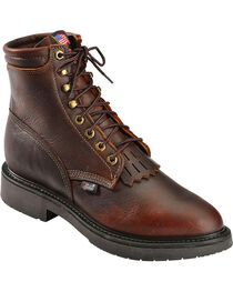 Justin Men's Lace-R Work Boots, , hi-res