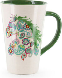 BB Ranch Paisley Horse Patterned Mug, , hi-res