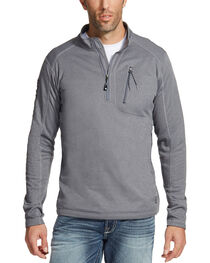 Ariat Men's Charcoal Motivation Relentless 1/4 Zip Pullover , , hi-res
