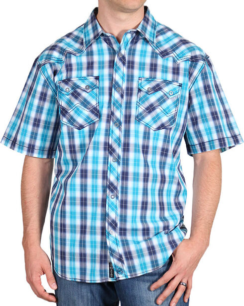 Moonshine Spirit Men's Rio Grande Western Shirt, Navy, hi-res