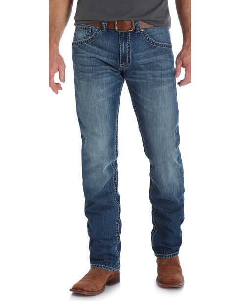 Wrangler Rock 47 Men's Mandolin Slim Fit Jeans - Straight Leg, Indigo, hi-res