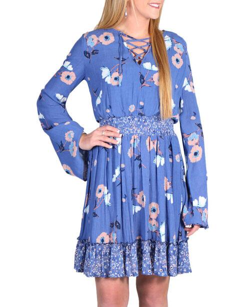 Shyanne Women's Floral Long Sleeve Peasant Dress, Multi, hi-res