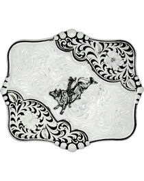 Montana Silversmiths Antiqued Blooms Buckle, , hi-res