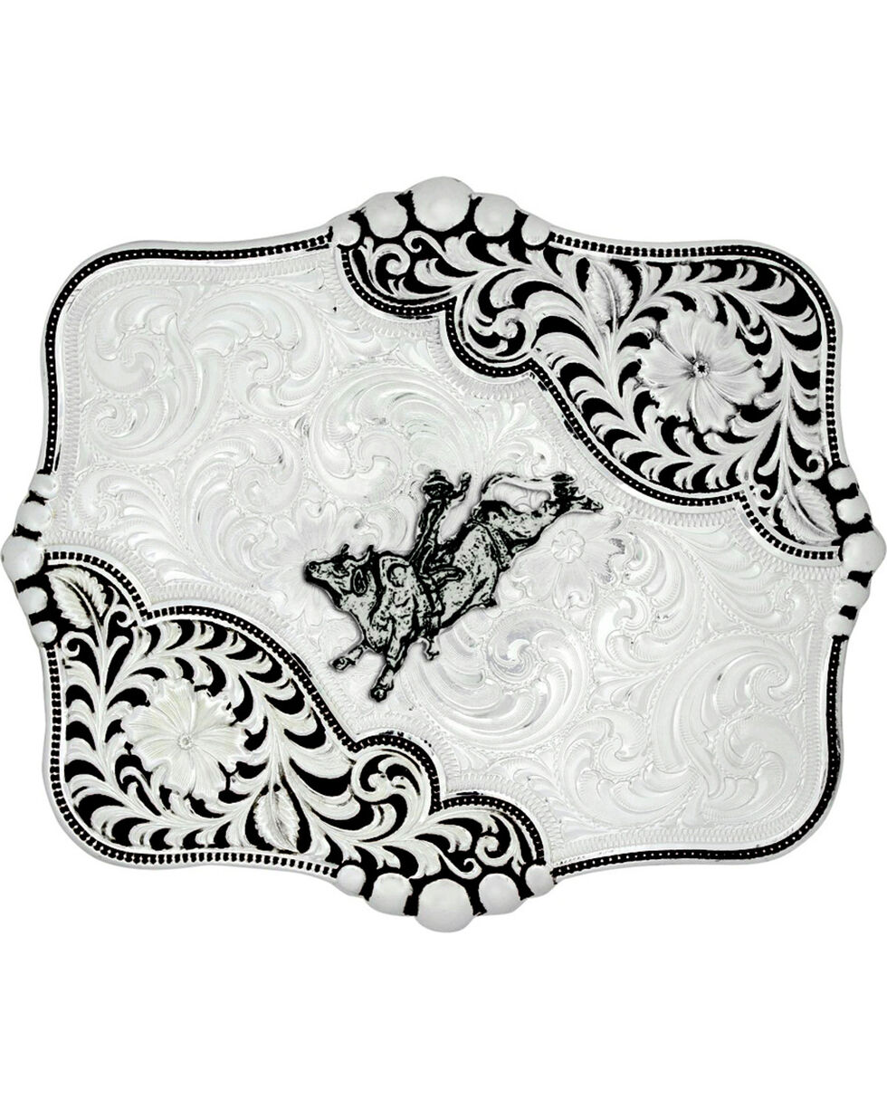 Montana Silversmiths Antiqued Blooms Buckle, Silver, hi-res