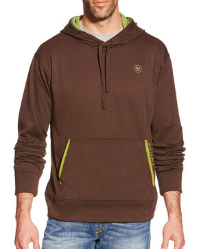 Ariat Men's Tek Fleece Hoodie 2.0, Brown, hi-res