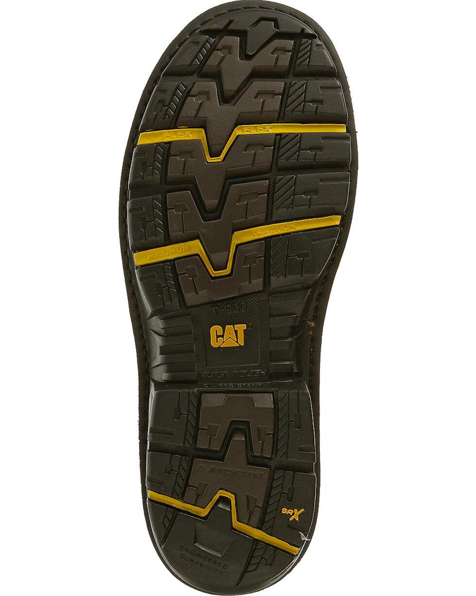 "CAT Men's Fabricate 8"" Tough WP Composite Toe Work Boots, Brown, hi-res"