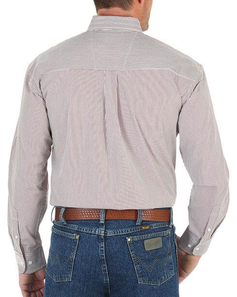 Wrangler Men's Button Down Long Sleeve Shirt, Wine, hi-res