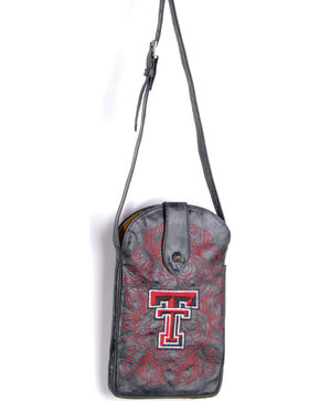 Gameday Boots Texas Tech University Crossbody Bag, Black, hi-res