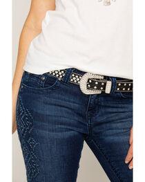 Shyanne® Women's Rhinestone Skinny Belt, , hi-res