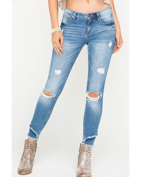 Miss Me Women's Indigo Let It Rip Ankle Jeans - Skinny , Indigo, hi-res