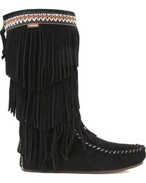 Lamo Women's Virginia Fringe Boots - Moc Toe, , hi-res