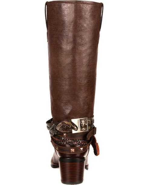 Durango Women's Chocolate Philly Accessorized Western Boots - Round Toe , Chocolate, hi-res