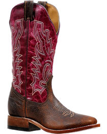Boulet Women's Embroidered Stockman Boots - Square Toe, , hi-res